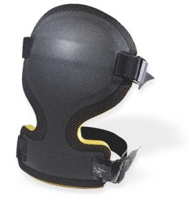 Arc'teryx Knee Cap. More padding and hard shell protection for your upper shin.  click to enlarge
