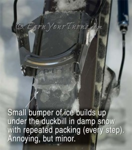 Nothing escapes the effects of icing, but the issue is minor with Switchback.  click to enlarge