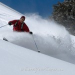Look familiar? From the best powder day of Ten-11. Aaron Brietbard demonstrates why tele rules.