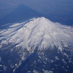 Viewed from above (looking roughly WNW from the SE side), Mt. Shasta's appeal is no secret.