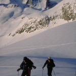 Heading up to Campion Peak in the Selkirk Range, BC, Canada.
