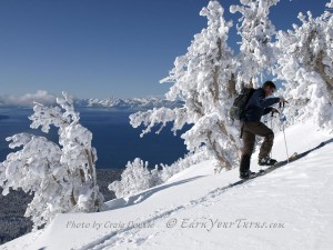 John Holleman enjoys one of Tahoe's finest views.
