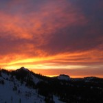 Sunset on Sugar Bowl's Crows Nest