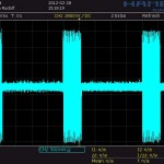 Screen capture of the received signal from an analog beacon.