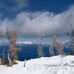 Blue-bird day after a fresh two-footer hits the Tahoe area.
