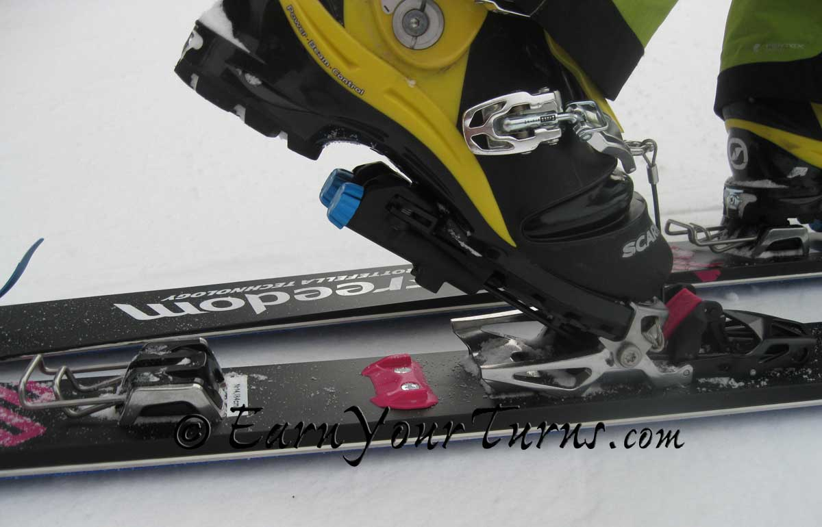 Telemark binding review rottefella 39 s ntn freedom for Rottefella ntn freeride mounting template