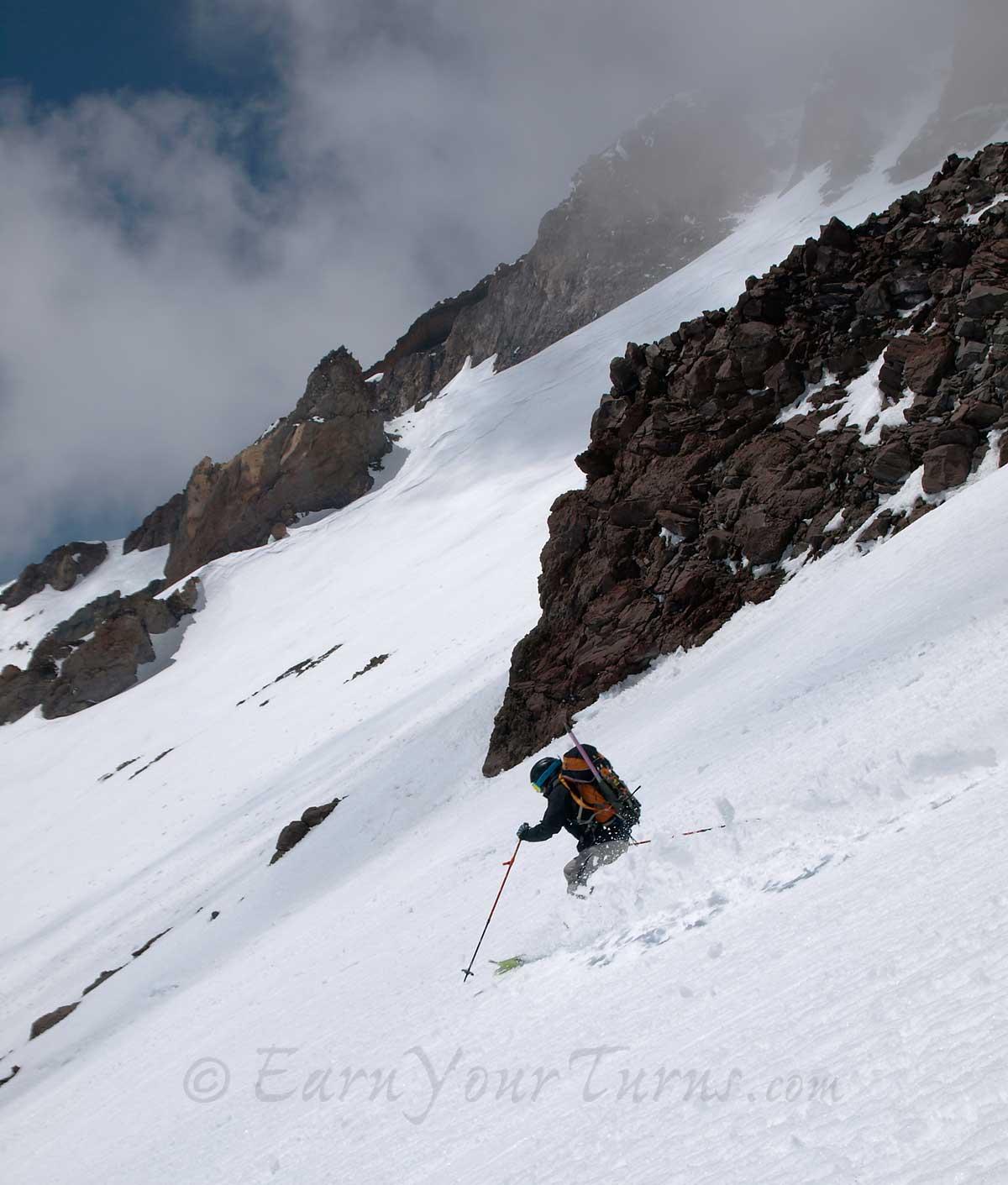 Skiing Avalanche Gulch mt Shasta tr Shasta Via Avalanche Gulch