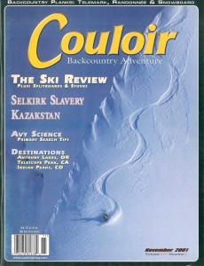 Couloir Vol. XIV-2, Nov. 2001