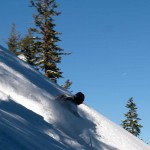 Spirit Dan rips freshies on Tahoe's West Shore.