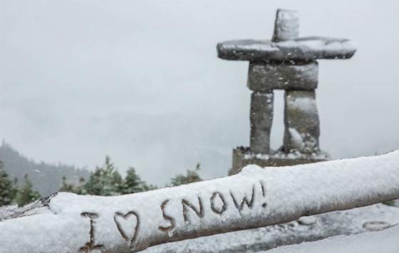 Recent snowfall at Whistler, B.C.