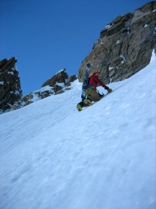 First rule of steep snow -same as the last: Don't fall.
