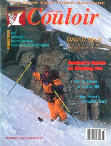 Couloir IX-3, Dec. '97 w/Kasha on the cover.