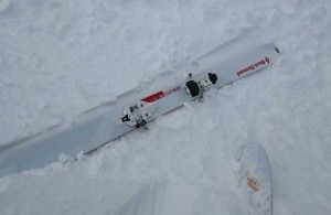 My first lateral release at the toe with Vipec....while on a chairlift. Ooops.