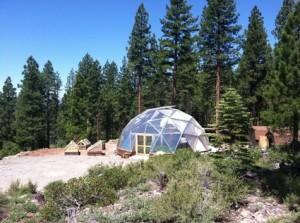 The Tahoe Food Hub's community grow dome in Truckee, CA
