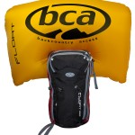 Outdated colors, but the size and shape of the BCA Float airbag is still like this.