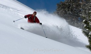 Aaron Brietbart enjoys Sugar Bowl Backcountry.