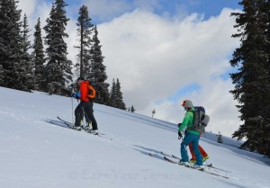 Real world testing of next season's Dynafit skis at Berthoud Pass, CO.