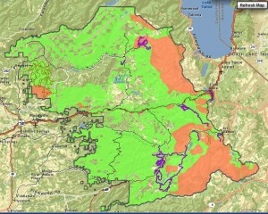 Eldorado NF winter recreational use map.  Link to interactive map here.