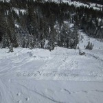 Skier triggered avalanche on Mt. Judah, California.