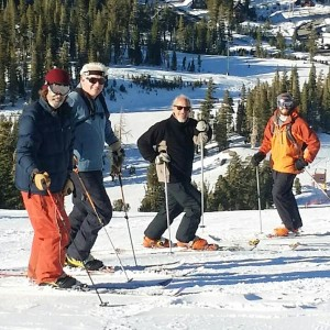 Post cancer treatments on opening day at Mammoth, Nov. 13, 2015. L-R: Mitch Weber, Big Tim, Scottsman, Corey Connolly