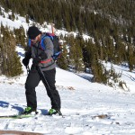 Alex Pappas' first day skinning for fresh tracks.