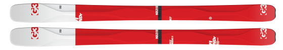 FINDr skis from G3 in three widths: 86, 94, 102 mm.